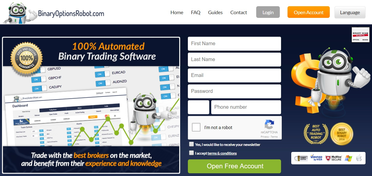Binary options software scams