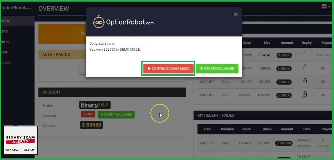 Binary option robot legit